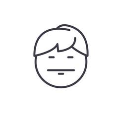 emo emoji concept line editable concept vector image