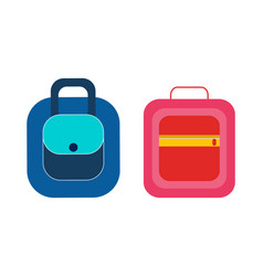 female handbagspractical briefcases backpack vector image