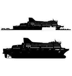 ferry vector image