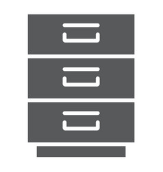 filling cabinet glyph icon office and organize vector image