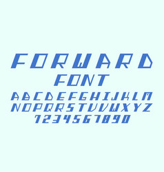 Forward cursive font alphabet l vector