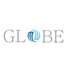 globe swirl logo vector image