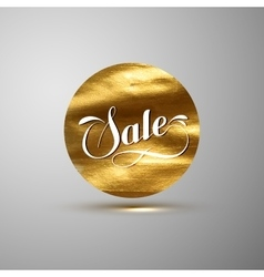 Golden Sale banner vector image