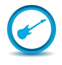 Guitar icon blue 3D vector