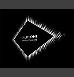 halftone distort rhombus in perspective vector image