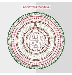 Hand drawn art winter mandala vector image