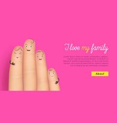 Happy family card vector