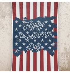 Happy Presidents Day on US national Flag Banner vector image