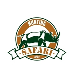 Hunting safari adventure club sign vector