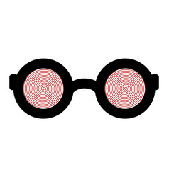 Hypnotic glasses isolated on a white background vector
