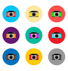icon logo for set symbols camera vector image