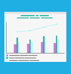infographics with explanation and timeline graphs vector image