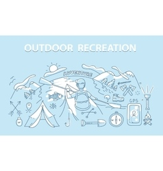 Line style design concept outdoor recreation vector