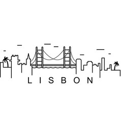 Lisbon outline icon can be used for web logo vector
