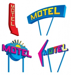 motel signs vector image