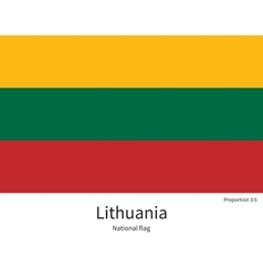 National flag of Lithuania with correct vector