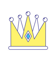 nice crown of king to glory and pawer vector image