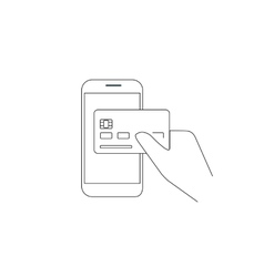 Payment by credit card via smartphone vector image