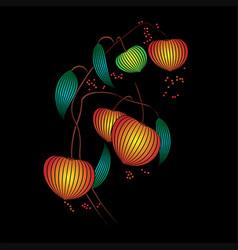 Physalis lines black vector
