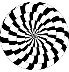 psychedelic pattern snail black and white spiral vector image