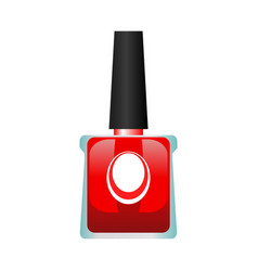 red nail polish bottle vector image