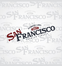 San francisco united states of america vector