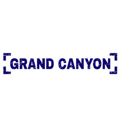 Scratched textured grand canyon stamp seal between vector
