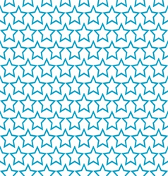 seamless blue star pattern background vector image