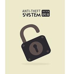 Security system over beige background vector