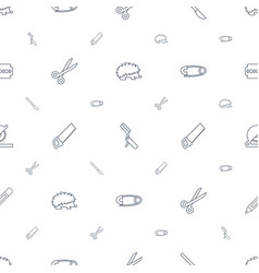 sharp icons pattern seamless white background vector image