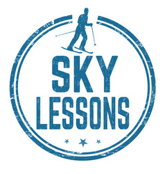 Sky lessons sign or stamp vector