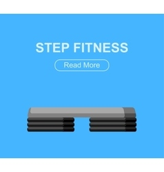 Step for aerobics training vector