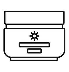 sun cream protect icon outline style vector image