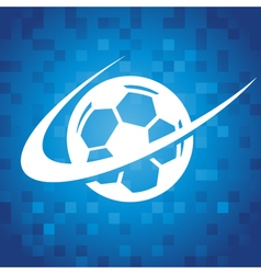 Swoosh Soccer Icon vector image
