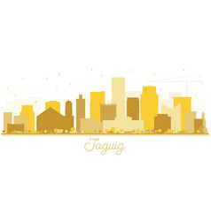 taguig philippines skyline golden silhouette vector image