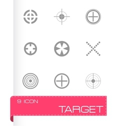 Target icons set vector