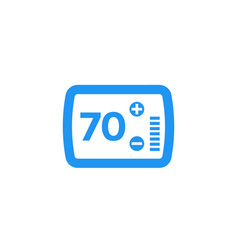 Thermostat icon on white vector
