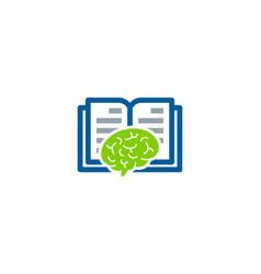 Think book logo icon design vector