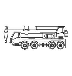 Truck crane icon vector