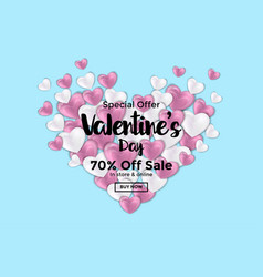 valentines day card or sale banner 3 vector image