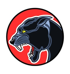 Circle Badge Panther vector image vector image