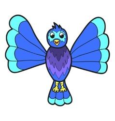 Cute fantasy bluebird vector image vector image