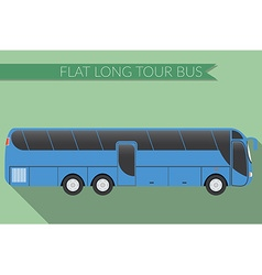 Flat design city Transportation Bus intercity long vector image vector image