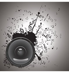 Music Poster with Audio Speaker2 vector image