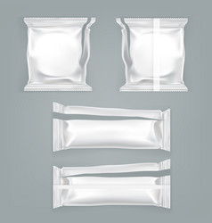 unfolded food plastic package templat vector image vector image