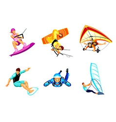 Air and water sport vector image vector image
