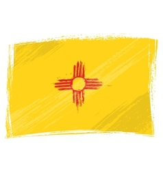 Grunge New Mexico flag vector image vector image