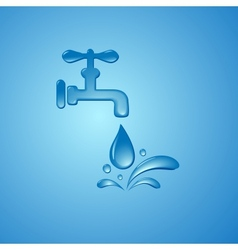 save water sign symbol background vector image vector image