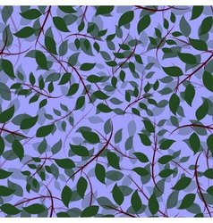 Seamless of Ash leaves vector image vector image