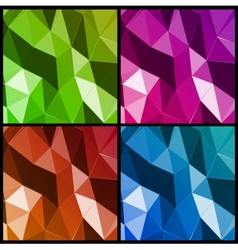 Set abstract triangle background vector image